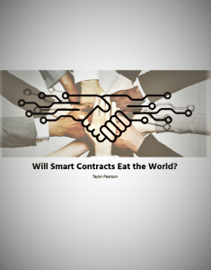 Blockchain Smart Contract Applications and Use Cases