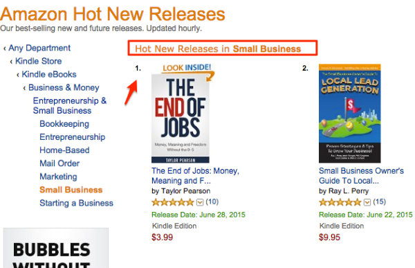 My book marketing plan how i sold 5000 books in four weeks amazon hot new release the end of jobs fandeluxe Gallery